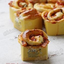 韩式辣酱火腿面包