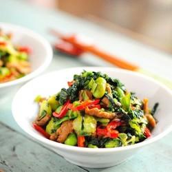 腌菜毛豆米炒肉丝