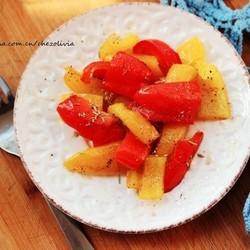 普罗旺斯风彩色腌甜椒