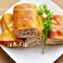 豆腐皮熏肉卷