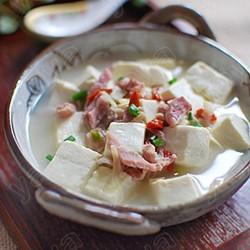 枸杞咸肉豆腐汤