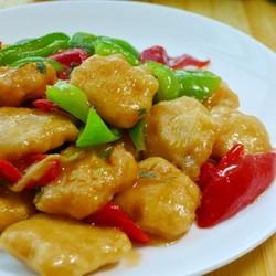 彩椒炒鸡排