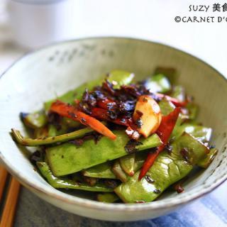 梅菜花椒干煸四季豆