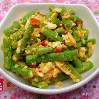 咸蛋干煸四季豆