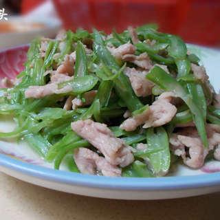 四季豆丝炒肉