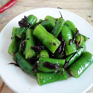 榄菜拌豆角