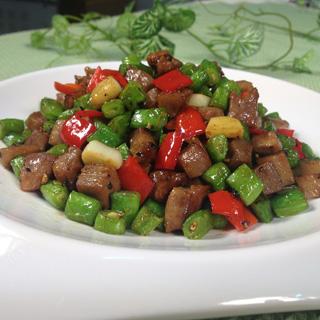 四季豆炒猪舌