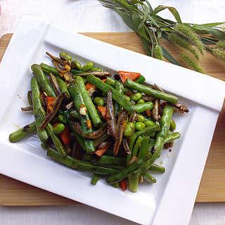 鱼干煸炒四季豆