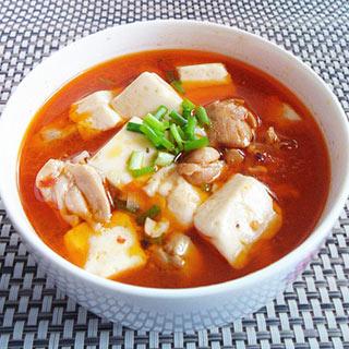 麻辣鸡腿豆腐