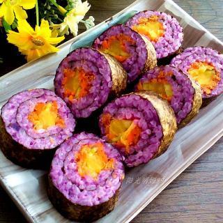 紫薯肉松寿司卷