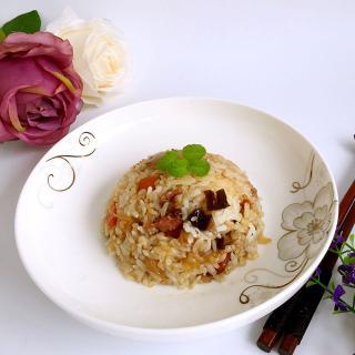 茄子腊肠糙米焖饭