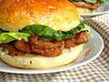 叉烧鸡排汉堡包