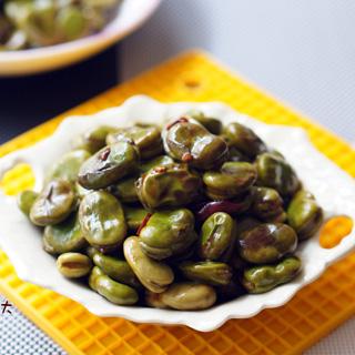 卤汁焖蚕豆