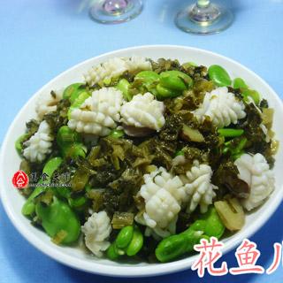 雪菜蚕豆炒乌贼