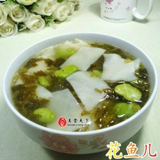 雪菜蚕豆片儿汤