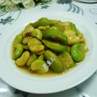 肉末蚕豆炒丝瓜