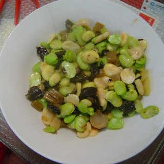 糟菜炒蚕豆
