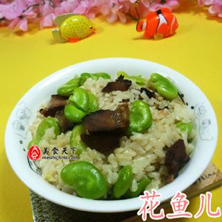 蚕豆酱肉饭
