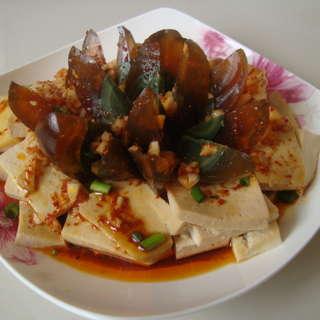 香辣皮蛋豆腐
