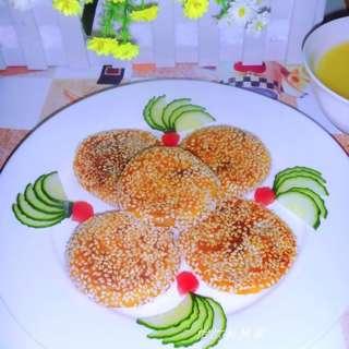 芝麻红豆南瓜饼