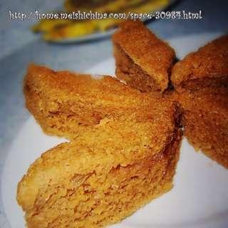 红糖粘玉米面发糕