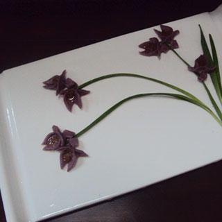 紫薯兰花饼