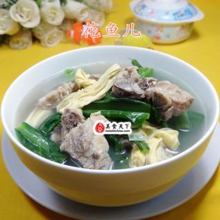 天菜芯腐竹龙骨汤