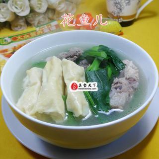 油菜蕻面结龙骨汤