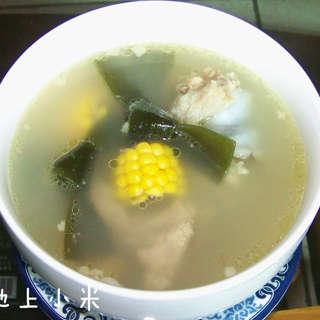 海带玉米龙骨汤