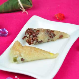 圆锥蜜红豆粽子