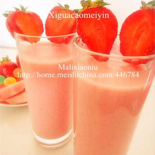 西瓜草莓冰饮