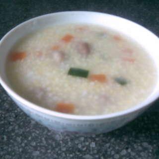 五彩小米粥
