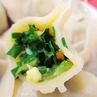 角瓜韭菜鸡蛋饺子