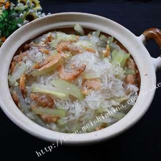 节瓜虾米粉丝煲