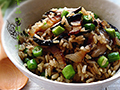 腊肉香菇炒糙米饭