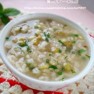 薄荷绿豆粥