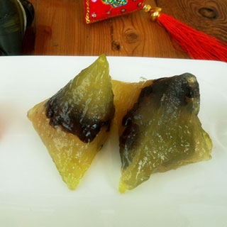 蜜红豆水晶粽子