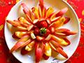 新春水果拼盘之花开富贵