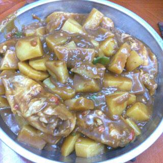咖喱土豆鸡翅