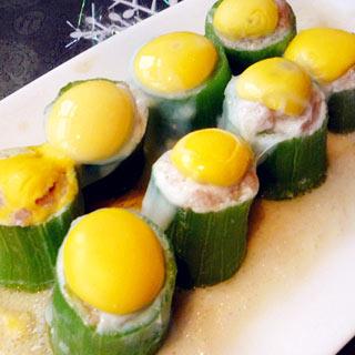 鹌鹑蛋肉馅酿丝瓜