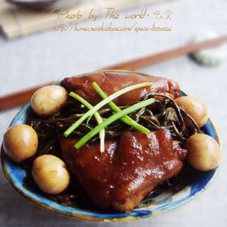 猪蹄烧干菜