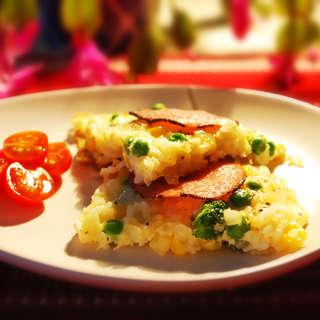 米饭鸡蛋煎饼