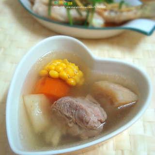 马蹄玉米粉葛扇骨汤