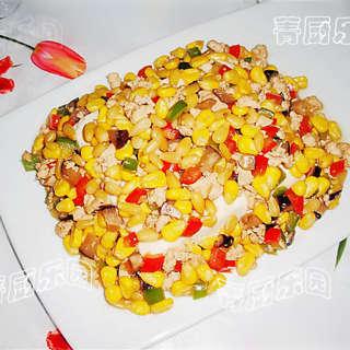 松仁香菇酱扒豆