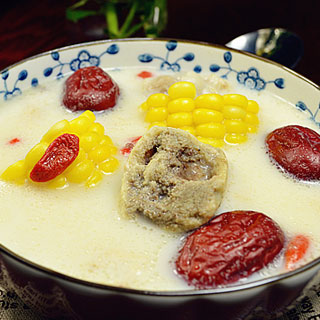 玉米大骨豆浆煲