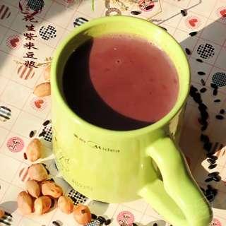 花生紫米豆浆
