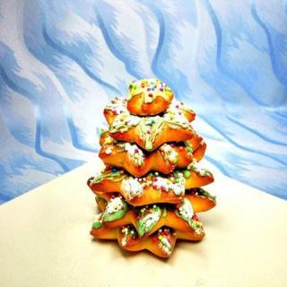 巧克力甜甜圈圣诞树