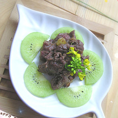 奇异果炒牛肉