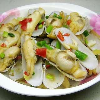 蒜味剁椒炒蛏子