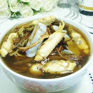笋干菜蛏子汤